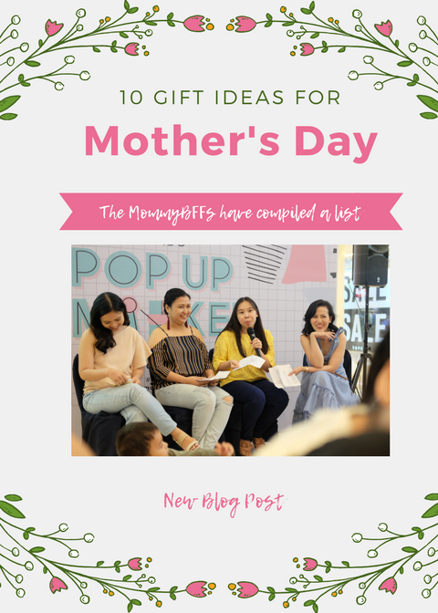 Off-White & Pink Floral Mother's Day Event Flyer