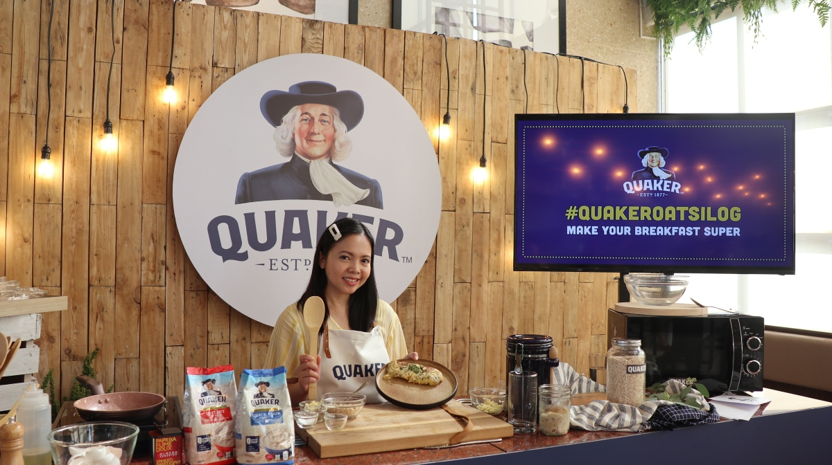 Make Your Breakfast Super with Quaker Oatsilog