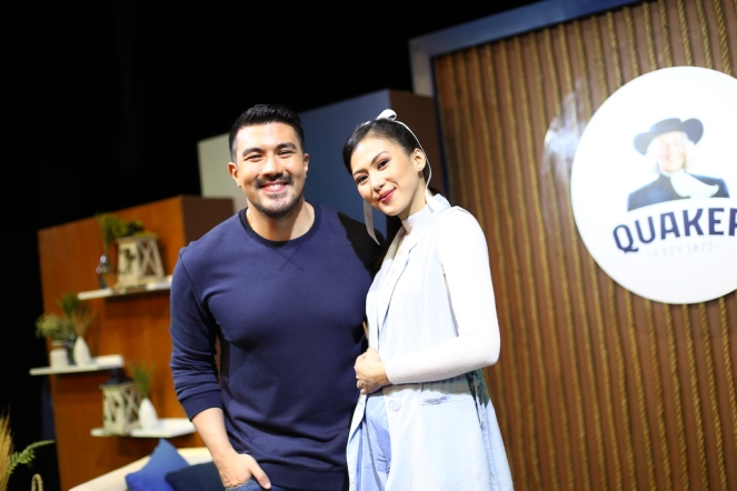 Luis Manzano and Alex Gonzaga at the Quaker Breakfast Show